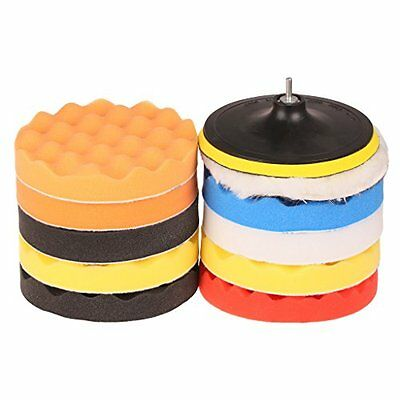 SPTA 12pcs 6in/150mm Foam Buffing Polishing Pads with Drill Adapter Kit for C...