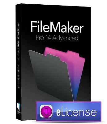 FileMaker Pro 14 Advanced Database Software (Win/Mac) **Digital DeIivery**