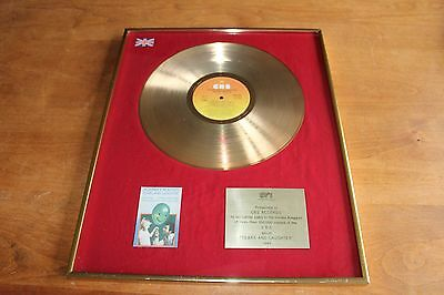 Johnny Mathis - UK BPI Gold LP Award / Tears & Laughter / 100,000 Copies RIAA