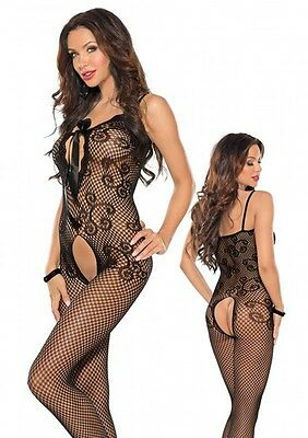 Roxana BODYSTOCKING BLACK Gr. L / XL Schwarz Catsuit |56