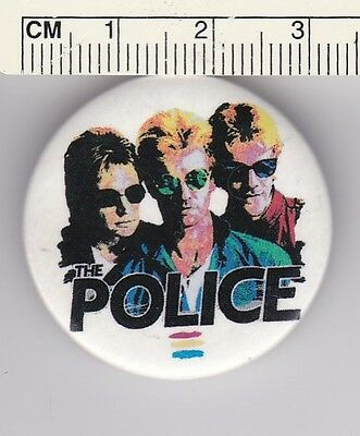 The Police Syncronicity band button