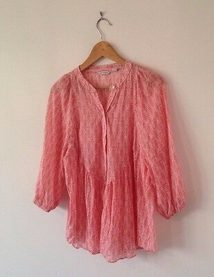 Beautiful Country Road Cotton Top / Blouse, Size M (10-12) VGC