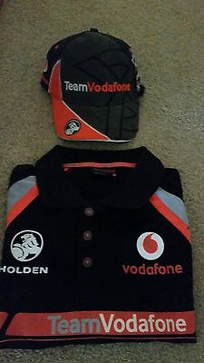 Craig Lowndes & Jamie Whincup Signed Team Vodafone Polo Last V8 Supercars Race