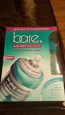 New Bare Air free 8 Ounce 2 Pack Baby Bottle with Perfe latch Nipple