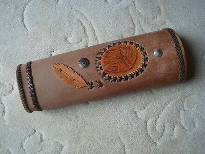 Archery Leather quiver Indian Head and conchos handmade unused