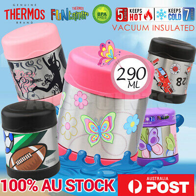 100% Genuine THERMOS 290ml Funtainer Kids S/Steel Vacuum Insulated Food Jar