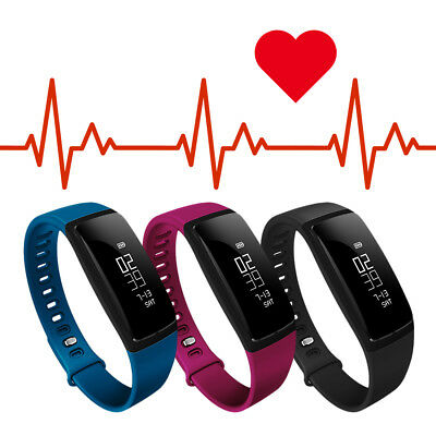 Smart Band Sport Watch Blood Pressure Heart Rate Monitor Fitness Activity Track