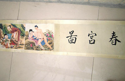 ancient painting shunga artistic erotic viusal painting scrolls