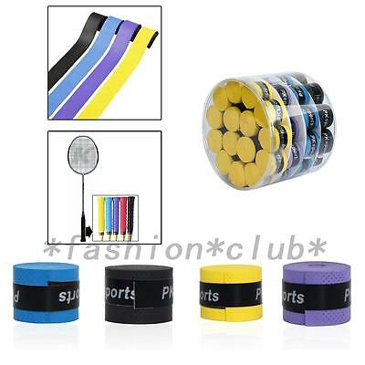 60PCS Absorb sweat stretchy Tennis Squash Racquet Band Grip Tape Overgrip FC