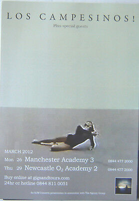 LOS CAMPESINOS : March 2012 -CONCERT FLYER- MINT