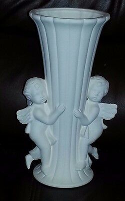 Ceramic bisque, Cherrub vase. approx. 230mm.Ready to paint or glaze.