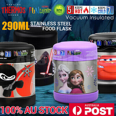 THERMOS 290ml Funtainer Kids  Vacuum Insulated Food Jar Disney Frozen Car Ninja