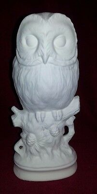 Ceramic Bisque Owl, 280mm approx. Ready to Paint or Glaze.