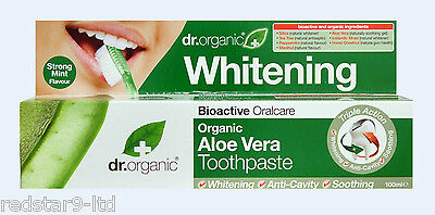 Dr Organic Bioactive Aloe Vera Whitening Eco Anti-Bacterial Toothpaste 100Ml