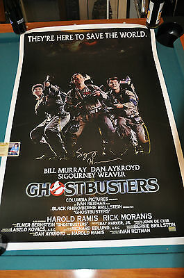 GHOSTBUSTERS Signed SIGOURNEY WEAVER 24x36 Poster COA Autographed PROOF