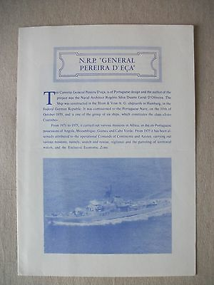 N.R.P. General Pereira D'Eca (Portuguese Navy) - Welcome Aboard Pamphlet