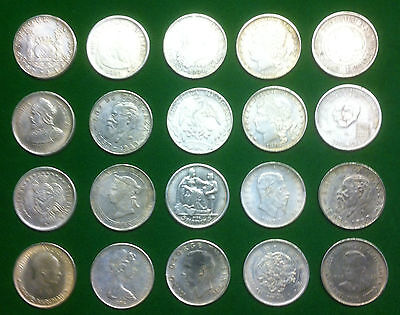 Coin Collection.   20 X Various Crown Sized Coins.    No Silver