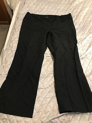 Womens New Look Size 20 Black Trousers Regular length