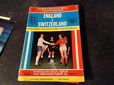 England V Switzerland 10/11/71