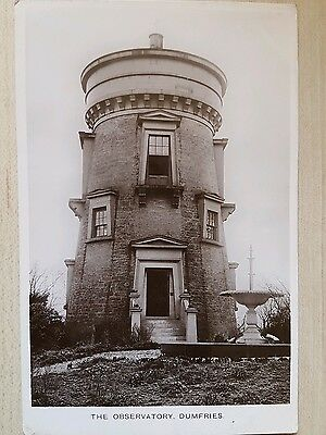 Real Photo Postcard. The Observatory, Dumfries