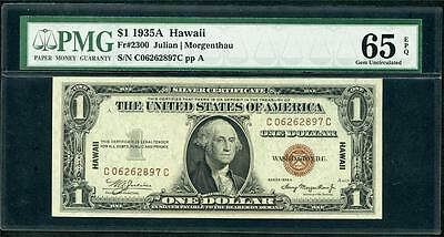 *1935A Hawaii $1.00 Graded Pmg 65 Epq And S/n C06262897C A Beauty Please Lqqk!!
