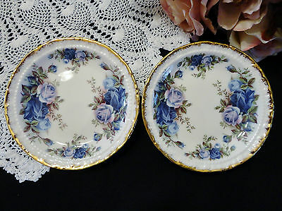 "Two Royal Albert Pin Dishes ""Moonlight Rose"""
