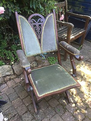 Antique Folding Chair For Project Mahogany