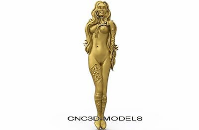 3D Model STL for CNC Router Engraver Carving Artcam Aspire Women Girl Naked 8264
