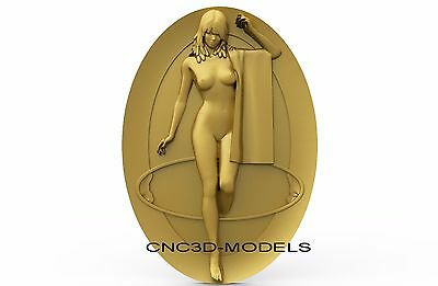 3D Model STL for CNC Router Engraver Carving Artcam Aspire Women Girl Naked 8316