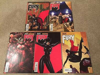 Miss Fury #1 2 3 4 & 5 Ale Garza 1:10 Risque Cover Variant Dynamite Comics 2013