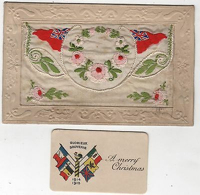 Ww1 Silk Embroidered Envelope Postcard- With Card Insert - From Tom Parkin
