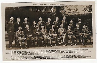 Real Photo Postcard - The Labour Cabinet 1929