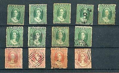 Grenada QV some early issues mixed conditions unused & used