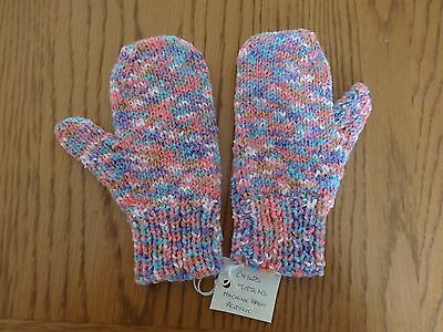 Childrens Mittens Hand Knitted