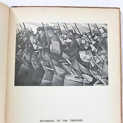 WW1 1917 C. R. W. NEVINSON MODERN WAR PAINTINGS 1st EDITION BRITISH ARMY ARTIST