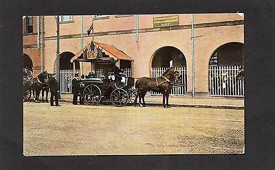Vintage postcard of The King leaving the Coutge, Doncaster 1911