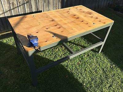 Heavy Duty Steel Work Bench with Vice