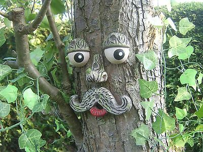 TREE FACE. Garden decoration, ornament, sculpture, statue, tree decoration gifts