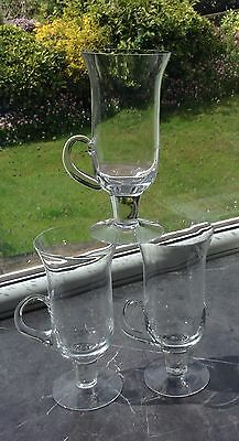 Set 3 Dartington Glass Irish Coffee Glasses FT83 - 1970's all in good condition