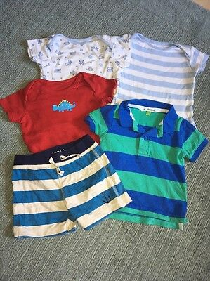 Baby Boys Vests T-shirt And Shorts 6-9 Months Jlewis And Next