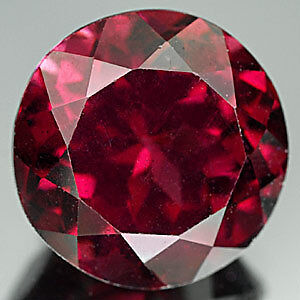 8mm ROUND-FACET PURPLE/RED NATURAL INDIAN ALMANDITE GARNET GEMSTONE £1 NR!