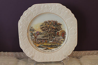 Lord Nelson Pottery Currier & Ives Decorative Plate - Autumn In New England