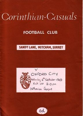 CORINTHIAN CASUALS v OXFORD CITY 1969/70 ISTHMIAN LEAGUE