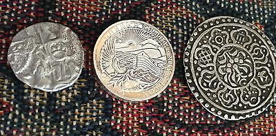 Ancient India Italy Unknown, New Era,  3 silver coins relic old modern religious