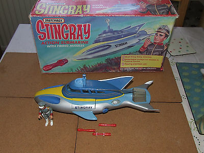 Vintage Gerry Anderson Matchbox Stingray With Troy Tempest, Rockets & Box