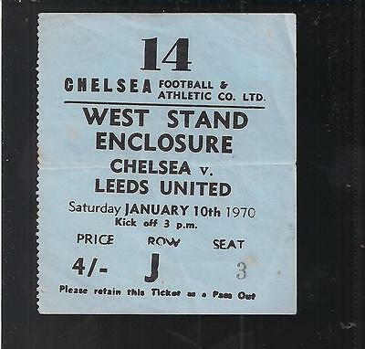 Chelsea V Leeds united 1969/70 Match Ticket