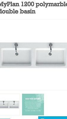 double basin vanity unit mirror and lights