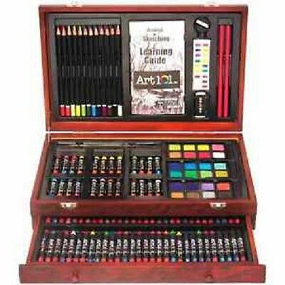 ART 101 USA 53132 132pc Wood Case Art Set