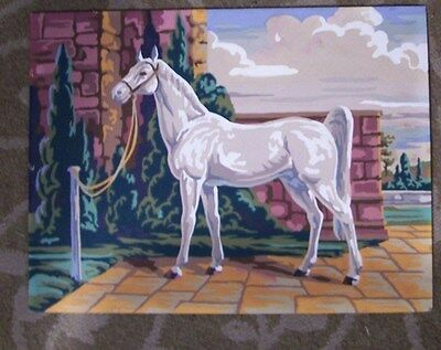 White Horse- Paint By Number-Vintage-12X16