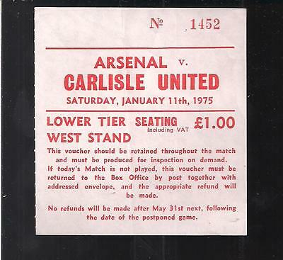 Arsenal V Carlisle United 1974/75 Carlisle Only Top Flight Season